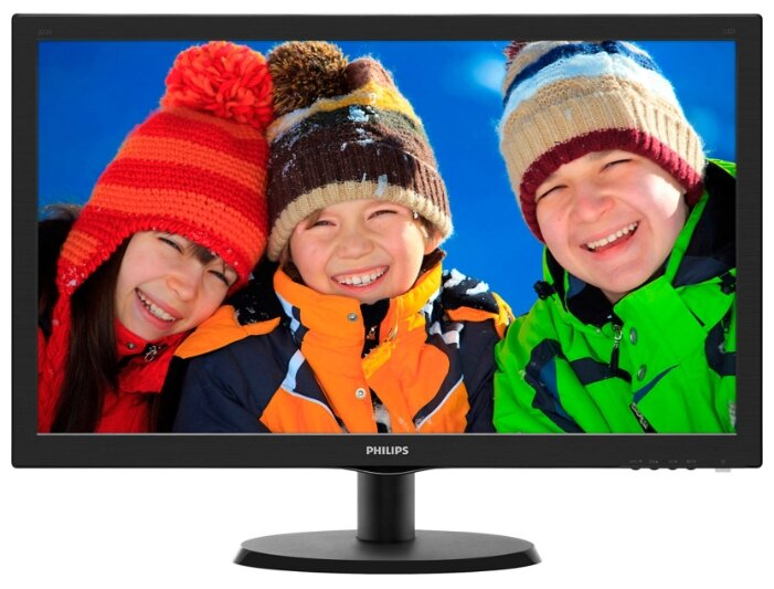 "Монитор 21.5"" PHILIPS 223V5LHSB/00(01) Black (LED,1920x1080, 5 ms, 170°/160°, 250 cd/m,10M:1,+HDMI)"