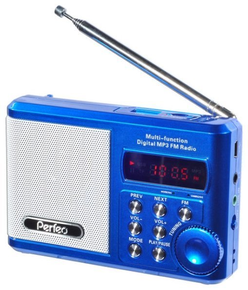 Радиоприемник Perfeo Sound Ranger, УКВ+FM, MP3 (USB/TF), USB-audio, BL-5C 1000mAh, синий