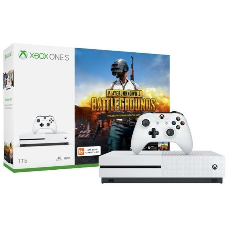 Игровая консоль Xbox One S 1 ТБ + PlayerUnknown's Battlegrounds код + XboxLiveGold 1м. + Game Pass 1